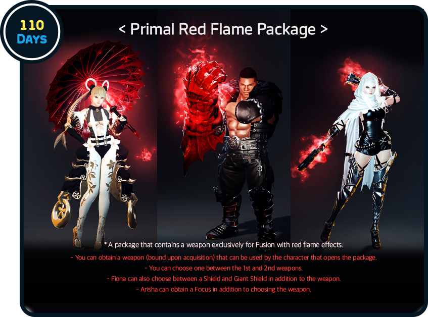 110 Days Primal Red Flame Package