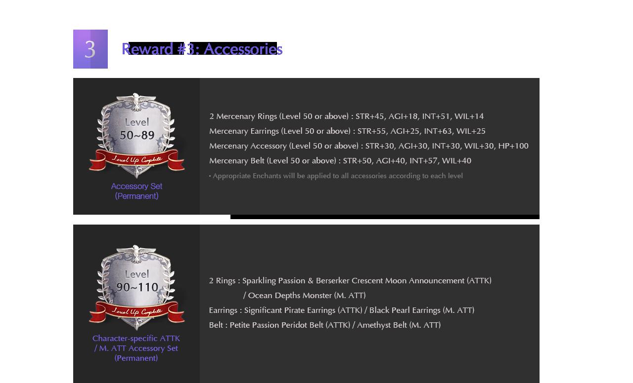 Reward #3: Accessories